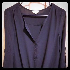 Naked Zebra black blouse